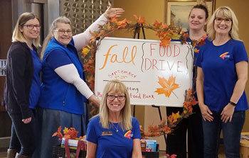 Banner employees decorate for annual food drive