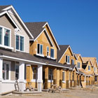 Housing development construction site financed by a Banner Bank homebuilder construction loan