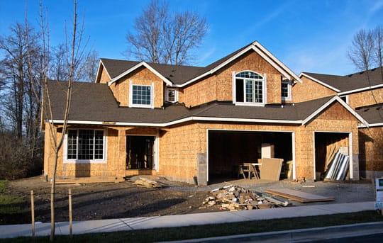 Housing development construction site financed by a Banner Bank homebuilder construction loan