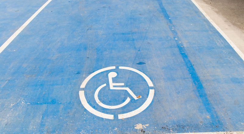 ADA accessible parking space is one of many accessibility features available at Banner Bank