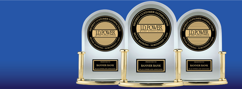 2017, 2018 and 2019 J.D. Power Award Trophies
