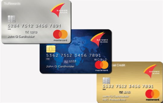 Banner Bank TruRewards, World Rewards and Commercial credit cards