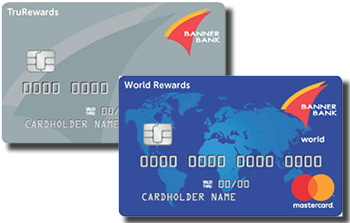 Images of TruRewards and World Rewards cards